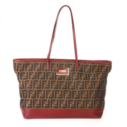 Fendi Logo Shopping Roll Bag Rot