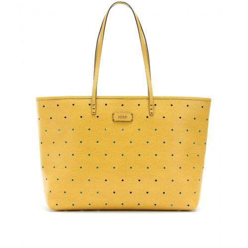 Fendi Roll Bag Shopper Perforiert Gelb