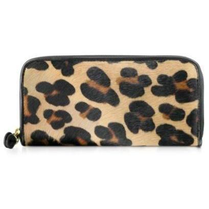 Fontanelli Brieftasche aus Pferdehaar mit Rundum-Reißverschluss