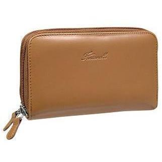 Fontanelli Bronzefarbene Brieftasche aus Kalbsleder