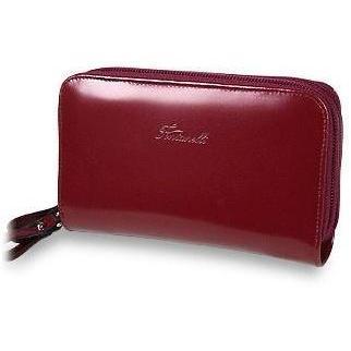 Fontanelli Geräumige Brieftasche mit zwei Reißverschlüssen