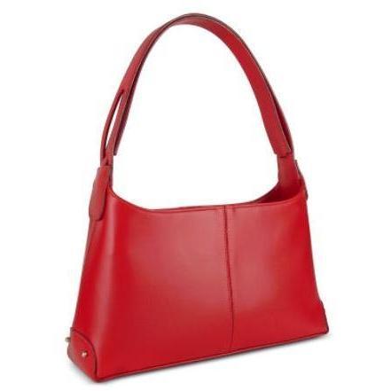 Fontanelli Klassische Handtasche aus italienischem Leder in rot