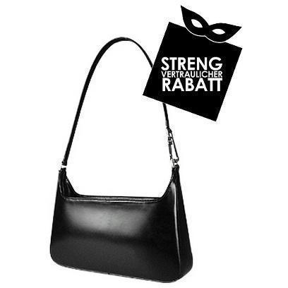 Fontanelli Klassische schwarze Handtasche