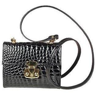 Fontanelli Kleine Handtasche aus geprägtem Leder