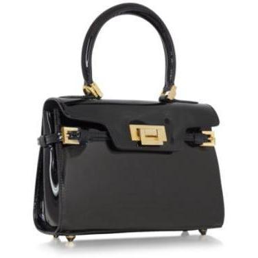 Fontanelli Kleine schwarze Handtasche