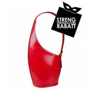 fontanelli rote handtasche aus italienischem leder. Black Bedroom Furniture Sets. Home Design Ideas