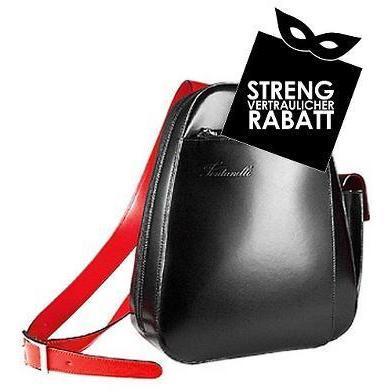 Fontanelli Rucksack aus italienischem Leder mit Einzel-Schulterriemen