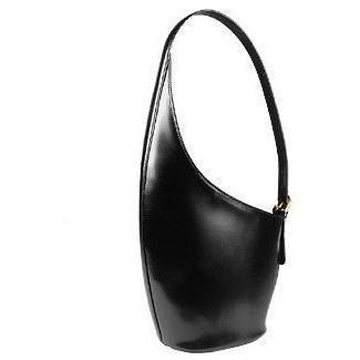 Fontanelli Schwarze Handtasche aus italienischem Leder