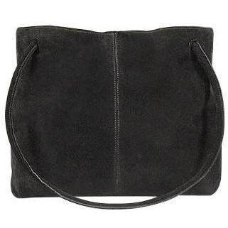 Fontanelli Umkehrbare Wildledertasche in Schwarz und Gelb