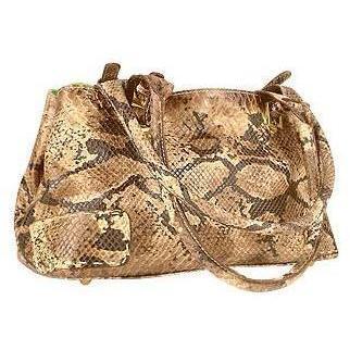 Fontanelli Zwei in eins - Python geprägte Ledertasche und grüne Wildledertasche