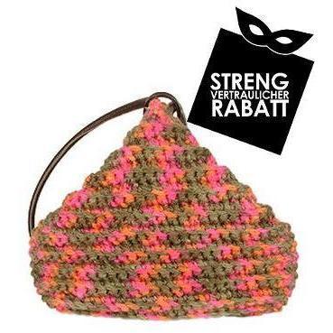 Forzieri Bunte handgemachte Hobo Tasche aus Wollgemisch