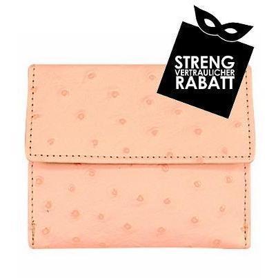Forzieri Kleine Brieftasche aus Leder mit Straußenprägung