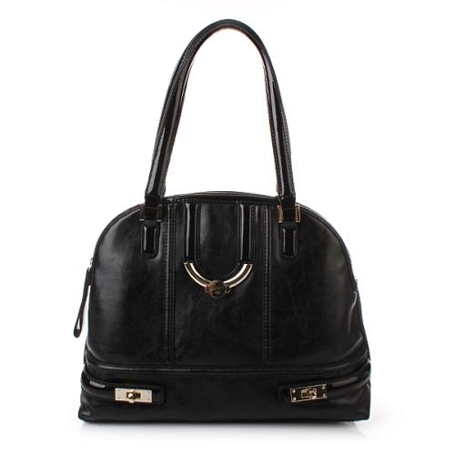 Guess Freya Dome Satchel Schwarz