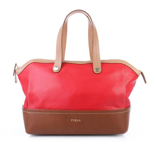 Furla Brooklyn Medium Shopper Geranio e Nocciola