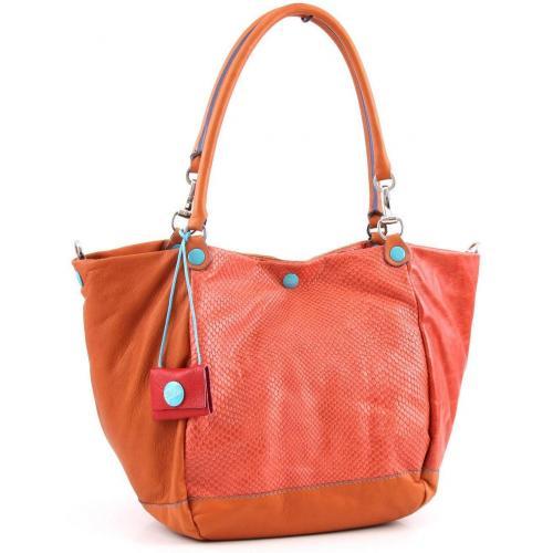 Gabs Viola M Shopper Leder orange