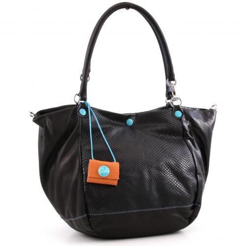 Gabs Viola M Shopper Leder schwarz