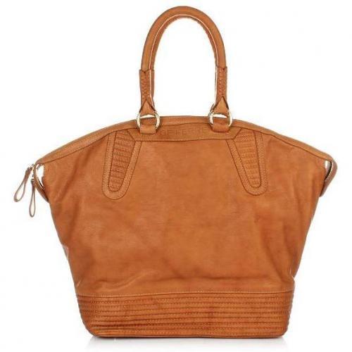 GF Ferré Donna Leather Shopper Brown