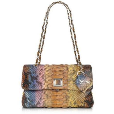 Ghibli Baguette Tasche aus Python in bunt