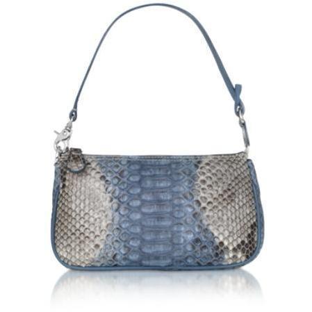 Ghibli Baguette Tasche aus Python Leder
