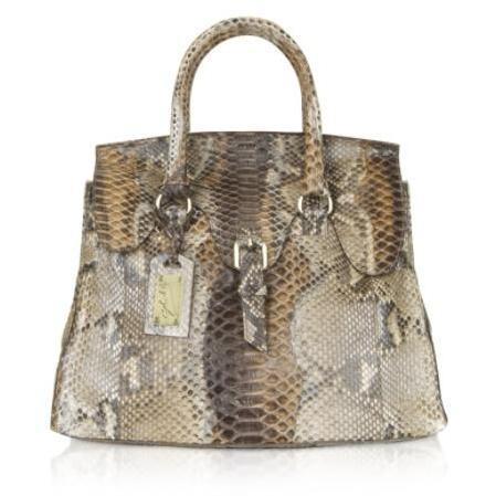 Ghibli Handtasche aus Pythonleder