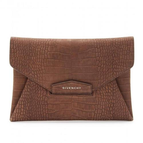Givenchy Antigona Geprägte Lederclutch