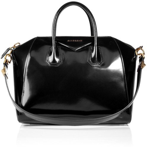 Givenchy The Antigona Lackleder Tasche Medium schwarz