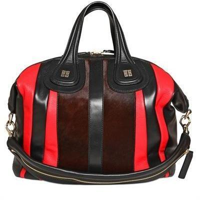 Givenchy - Medium Nightingale Leder Handtasche Rot Schwarz
