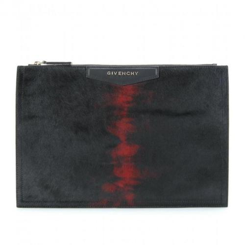 Givenchy Medium Zip Ponyfell-Clutch