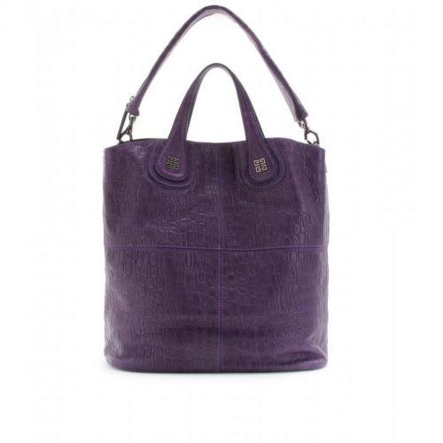Givenchy Small Nightingale Leder Shopper Dark Violet