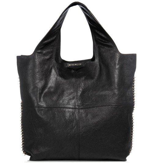 Givenchy The George V Schwarze Leder Tasche
