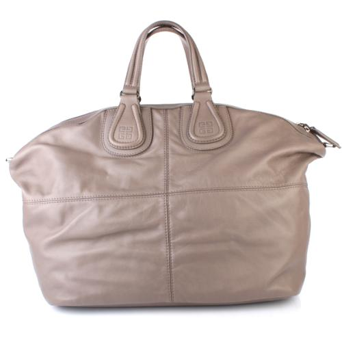 Givenchy Nightingale Leather Bag Grau