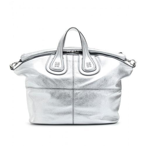 Givenchy Nightingale Medium Ledertasche Grau/Metallic