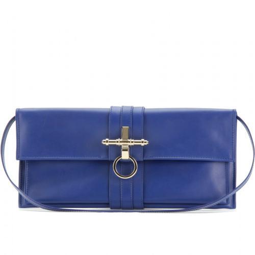 Givenchy Obsedia Lederclutch Blau