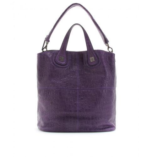 Givenchy Small Nightingale Leder Shopper Violett