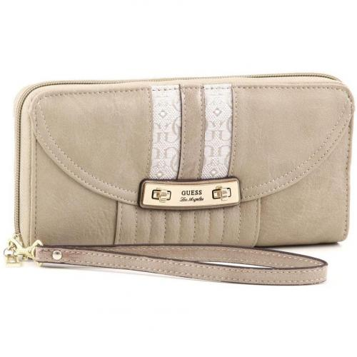 Guess Candence Clutch Leder stein