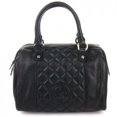 Guess Collection Dazzling Box Bag Black Leather