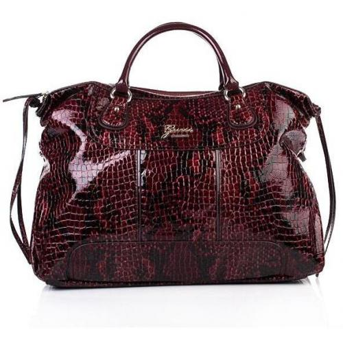 Guess Electron Large Satchel Ruby