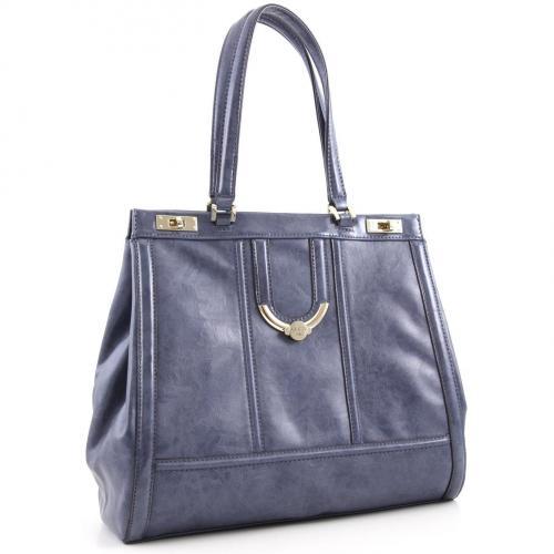 Guess Freya Shopper Leder blau