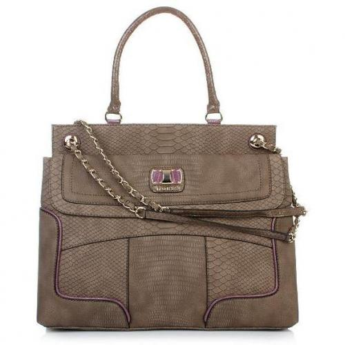 Guess Jemma Top Handle Satchel Taupe