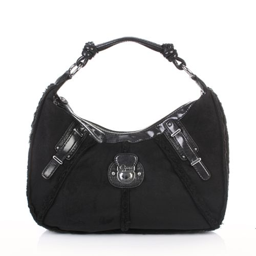 Guess Larchmonte Medium Hobo Black