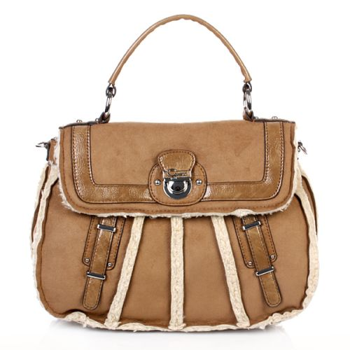 Guess Larchmonte Top Handle Flap Camel