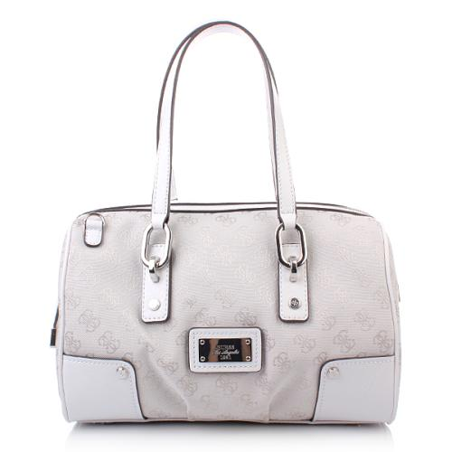Guess Lux Large Box Satchel White