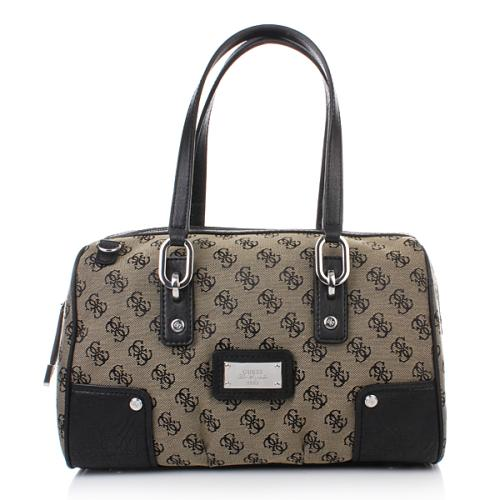 Guess Lux Large Box Satchel Black