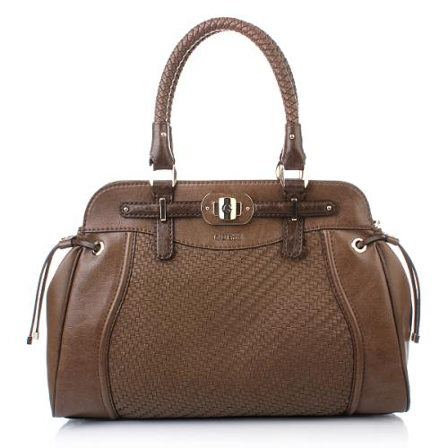 Guess Mauritius Satchel Taupe