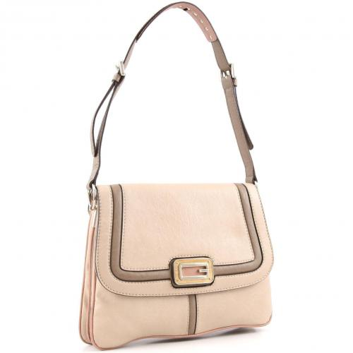 Guess Sauvage Schultertasche taupe