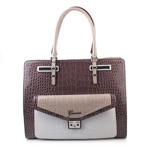 Guess Kora Carryall Taupe Multi