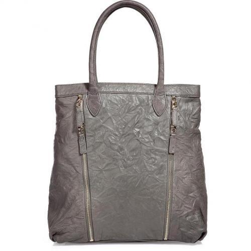 Halston Heritage Grey Zip-Detailing Bag