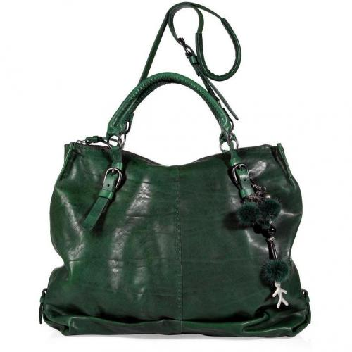 Henry Beguelin Emerald Green Manao Tote with Shoulder Strap