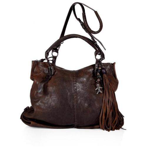 Henry Beguelin Mahogany Brown Manao Tote with Shoulder Strap