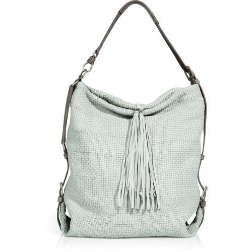 Henry Beguelin White Woven Maverick Bag